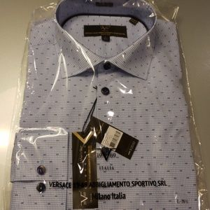 Other - Versace 19.69 Mens Dress Button Down Collar Shirt